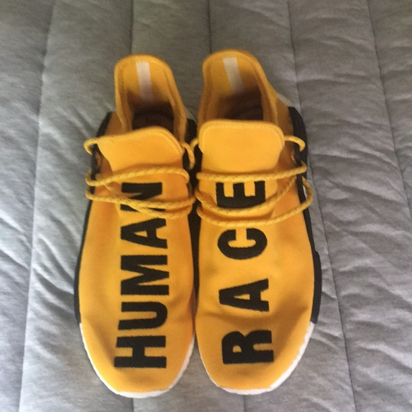 sports shoes 8149a 1597d Pharrell Williams yellow adidas human race. NWT